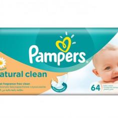 Pampers Servetele Naturally Clean, 64 Bucati - Scutece unica folosinta copii