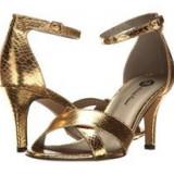 Sandale Aurii Elegante - Sandale dama, Culoare: Auriu, Marime: 38