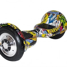 Scooter Electric Myria My7004 Smart Ride 10M Galben Graffiti 10 Inch - Hoverboard