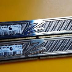 Kit 4GB DDR2 Desktop, 2x2GB, OCZ Radiator, 800Mhz, PC2-6400, CL5 - Memorie RAM Ocz, Dual channel