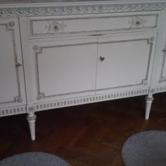 Mobila sufragerie, lemn masiv, stil Ludovic al XIV-lea