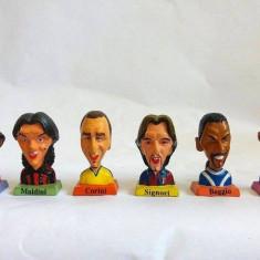 6 figurine fotbalisti Italia bust Totti, Maldini, Corini, Signori, Baggio, Vieri