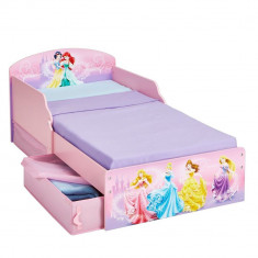 Pat Disney Princess 140 x 70 cm Worlds Apart - Patut lemn pentru bebelusi