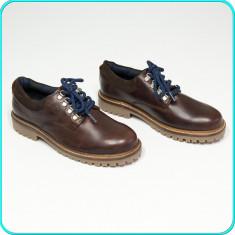 NOI, DE FIRMA → Pantofi piele, frumosi, eleganti, fiabili, ZARA → baieti | nr 35 - Pantofi copii Zara, Culoare: Maro, Piele naturala