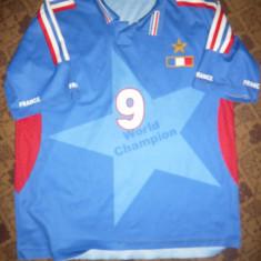 Tricou al Echipei Nationale de Fotbal a Frantei, Jucator Cisse nr.9, Masura S - Tricou echipa fotbal, Marime: S, Culoare: Albastru