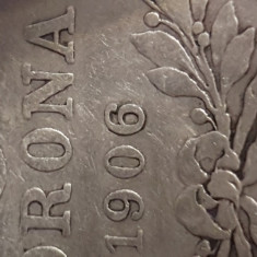 Moneda unica fracisc iosif rara 5 korona 1906 ungaria