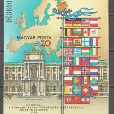 Ungaria 1986 - securitatea Europeana, colita ndt neuzata