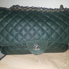 Geanta chanel - Geanta Dama Chanel, Culoare: Verde, Marime: Medie