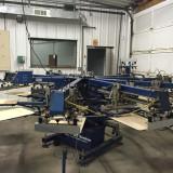 Carusele de serigrafie textile automat second-hand