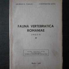 GEORGE D. VASILIU - FAUNA VERTEBRATICA ROMANIAE (index) cu autograf si dedicatie