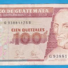 (1) BANCNOTA GUATEMALA - 100 QUETZALES 2006 (25 AUGUST 2006) - bancnota america