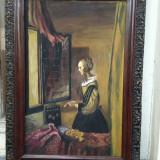 Pictura veche exceptionala - Autor neidentificat - Tablou autor neidentificat, Natura, Ulei, Realism