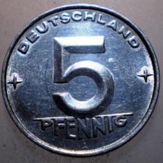 2.390 GERMANIA RDG DDR 5 PFENNIG 1952 A, Europa, Aluminiu