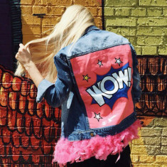 Jacheta Denim COD: WOW Jacket - NEW COLLECTION! - Jacheta dama, Marime: M, Culoare: Din imagine