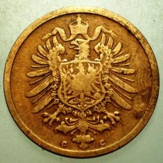 2.459 GERMANIA 2 PFENNIG 1876 C, Europa, Cupru (arama)