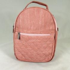 Rucsac/ghiozdan dama roz+CADOU, Piele ecologica