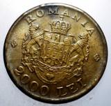 2.382 ROMANIA MIHAI 2000 LEI 1946 VARIANTA SCUT 2 SFERTURI PLINE, Alama