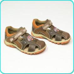 Pantofi de vara, din piele, comozi, aerisiti, BÄREN SCHUHE → baieti | nr. 28 - Pantofi copii, Culoare: Din imagine, Piele naturala
