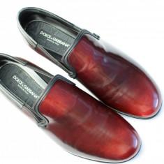 Pantofi barbat D&Gi Dolce&Gabbana, Marime: 42.5, Culoare: Visiniu
