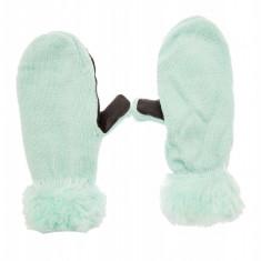 Manusi dama iarna, cu un deget, Verde