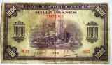 02. WWII AFRICA OCCIDENTALA ADMINISTRATIE FRANCEZA 1000 FRANCS FRANCI 1942 RARA