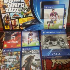 Playstation 4 Sony, 500GB, Stare Excelenta, 5 jocuri - GTA 5. WATCH DOGS, ETC