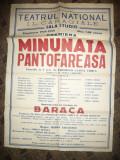 Afis Teatrul National ILCaragiale-Sala Studio -Minunata Pantofareasa-G.Lorca1958