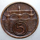 2.396 CEHOSLOVACIA 5 HALERU 1938, Europa, Bronz