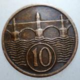 2.393 CEHOSLOVACIA 10 HALERU 1937, Europa, Bronz