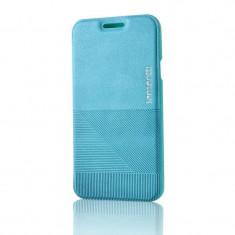 Husa Protectie Spate Lemontti Book Jelly Linea Albastru pentru Samsung Galaxy A3 - Husa Telefon Lemontti, Vinyl, Cu clapeta