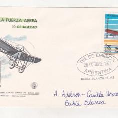 Bnk fil Argentina 1974 FDC - aerofilatelie - Alberto R Mascias