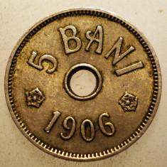 2.531 ROMANIA 5 BANI 1906 J - Moneda Romania, Cupru-Nichel
