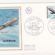 Bnk fil Franta 1979 FDC - aerofilatelie - Airbus