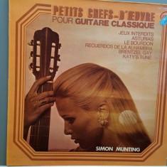 SIMON MUNTING - PETITS CHEFS-D'OEUVRE (1974/EMI/FRANCE) - Vinil/Impecabil - Muzica Clasica emi records