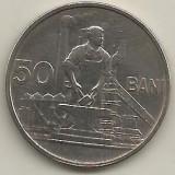 ROMANIA 50 BANI 1955 [1] XF++, livrare in cartonas - Moneda Romania, Cupru-Nichel
