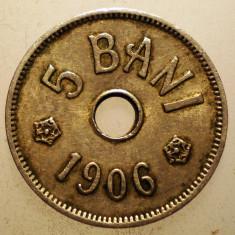 2.530 ROMANIA 5 BANI 1906 J - Moneda Romania, Cupru-Nichel