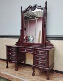 MASA DE TOALETA DIN LEMN MAHON CU OGLINDA  M15010-10, Sufragerii si mobilier salon, Baroc