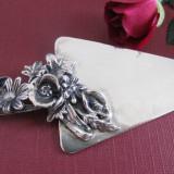 Miniatura argint paleta tort semnata Angini, Ornamentale