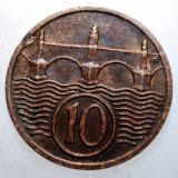 2.394 CEHOSLOVACIA 10 HALERU 1938, Europa, Bronz