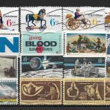 Lot timbre SUA, Stampilat