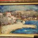 Pictura in ulei exceptionala - Peisaj marin - Redusa foarte mult! - Tablou autor neidentificat, Natura, Realism