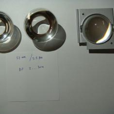 Lentila optica sticla 52mm Df aprox 25mm / set 3 bucati /lupa