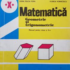 MATEMATICA GEOMETRIE SI TRIGONOMETRIE MANUAL PENTRU CLASA A X-A - A Cota, M Rado - Manual scolar didactica si pedagogica, Clasa 10, Didactica si Pedagogica