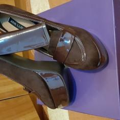 Pantofi dama - Pantof dama Ana Lublin, Culoare: Coffee, Marime: 37 2/3, Cu toc