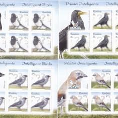PASARI INTELIGENTE, MINISHEET 2017, MNH, ROMANIA. - Timbre Romania, Fauna, Nestampilat