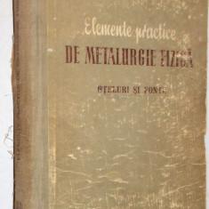 Elemente practice de metalurgie fizica - Ing. H. Schwartz - 1956