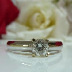 Inel aur 14k cu diamante 0.56ct - Inel de logodna
