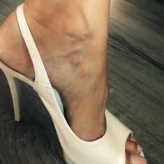 Pantofi mireasa 38 - Pantof dama Bata, Culoare: Alb, Cu toc