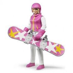 Figurina femeie snowboarder cu accesorii - Piese sah