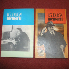 I. G. Duca - Memorii (Volumul 1 si 2) - Biografie